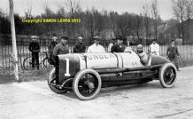 SUNBEAM 350HP Land Speed Record Car at Brooklands c.1922